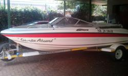 Boat with galvanised trailer all safety equipment,