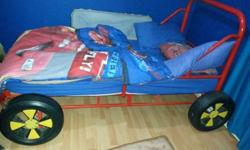 Steel Cars themed bed, with mattress included, real