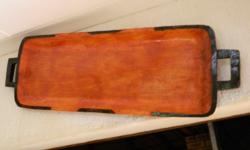 Carved wooden plate from St. Lucia. 1200 mm x 50 mm.
