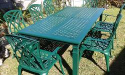 Outside weatherproof table (extendable from a 6 seater