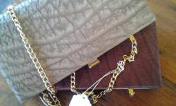 Buffalo Skin Clutch Handbags with gold string from the
