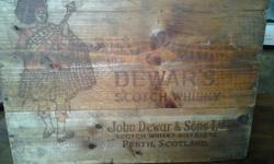 Old Whisky Wooden Box. Our antique shop, Paris Antiques