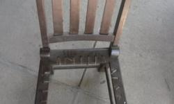 Old wooden chair that needs the rimpies replaced. Our