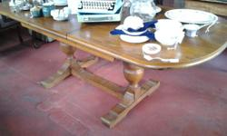 Six seater teak dining table