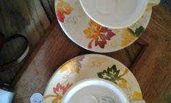 Two Autum Cups that have been hand painted with the