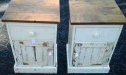 Two Bedside Cabinets with a draw and a cupboard. L:44