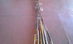 Vintage Fishing Rods @ R160.00 per rod. Our shop is