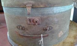 Vintage Material Hat Box that is very old but the