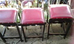 Vintage Red and Black Bar Chair that just look rugged