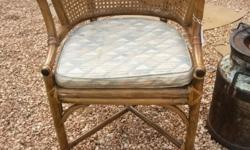 Wicker chair with flat cushion, I only have one in