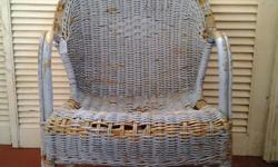 Wicker chair that is so rustic and beautiful and the