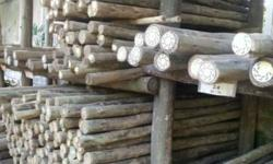 Poles and fencing slats, structural roofing timber,