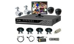 CCTV 4 Channel DVR with Cameras