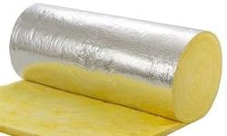 Fiberglass insulation with one side foil faced.