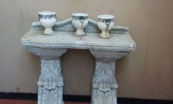 Solid cement deco for garden or in house. Top and