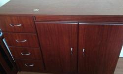 Compactum with bath and cot. Cherrywood.