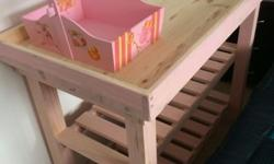 New Baby pine Changing Tables, with a edge so the baby