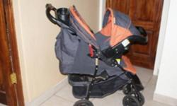 Beskrywing Chelino pram and baby car seat combo.