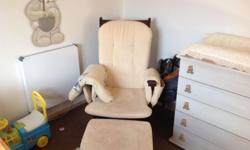 Much loved rocking chair with foot stool.Completly