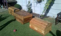 i have 3 chests 2 round top and one flat  R500 per