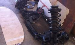 struts with springs, subframe, lower control arms,