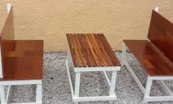 2x Two Seater Children`s Bench with table.(new)