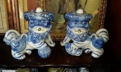 pair of Chinese dogs R300 for the set or R180 each