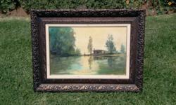Oil on board by Christiaan Nice White house landscspe