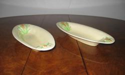 2 x �Clarice Cliff� corn-on-the-cob dishes. R300 for