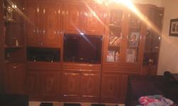 Classic Antique wall Unit for sale Very specious Made