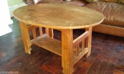 100 year old oval coffee table 0834147127