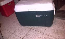 coleman coolerbox for sale as new dark green 54 liter