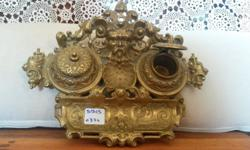 Stunning antique brass fountain pen stand for sale! we