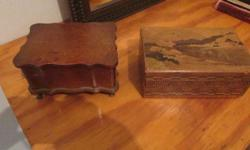 military box ,2 horns ,2 jewelry boxes ,original