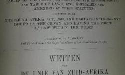 Collection of South African Law Books dating back as