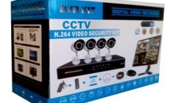Complete 4 Channel D.I.Y CCTV Kit with 800TV Line HD