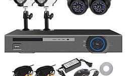 Complete 4 Channel D.I.Y CCTV Kit with HD Outdoor and