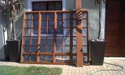 180x2250 Meranti Window Frame with glass and burglar