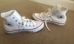 Selling Converse All Stars White. Size 5 and a half.