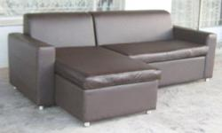 Custom made corner couches, space savers, L-shaped