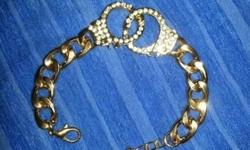 Costume jewelry for sale. Chunky handcuff bracelet