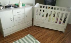 Cot and cupboard set