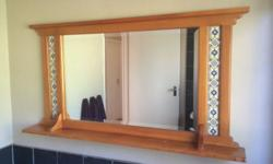 I have a pine cottage mirror for sale, it has blue