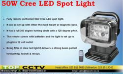 The new LED search light can be used for a wide range