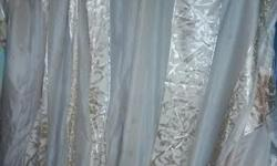 Curtains 2 drops each curtain size; Width; 3.6m Length