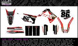 We offer the highest quality of motocross decals