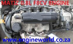 Daewoo Matiz 0.8L engine[used/imported] Good day Our