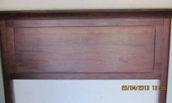 Soort: Headboard Dark wood headboard- double or queen