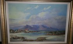 """Table mountain"" by De Jongh, Gabriel Stunning painting"