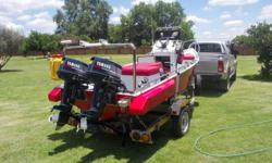 Trimcraft 4M with two Yamaha 25HP. Boyancy and